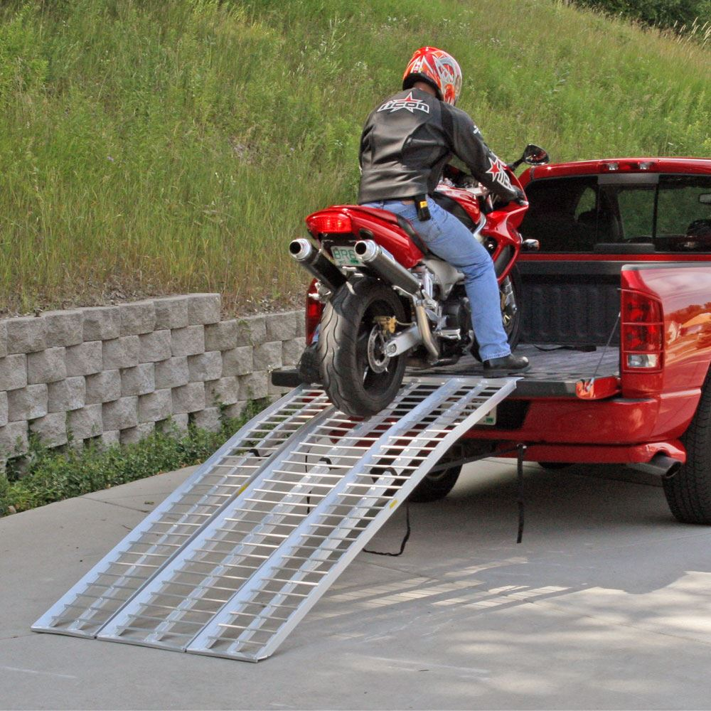 MC-RMP-NF Black Widow Aluminum Non-Folding Arched 3-Piece Motorcycle Ramp 3