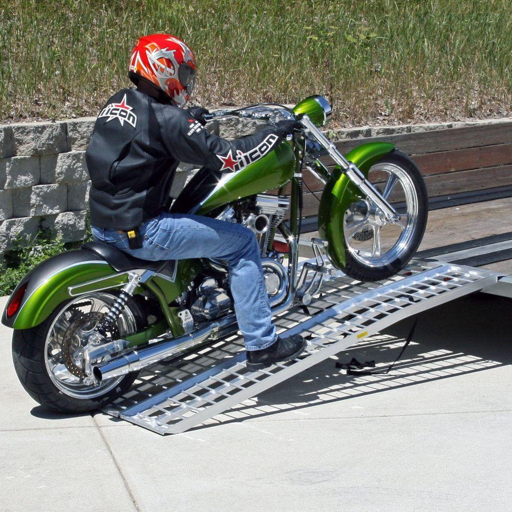 MC-RMP-NF Black Widow Aluminum Non-Folding Arched 3-Piece Motorcycle Ramp 4
