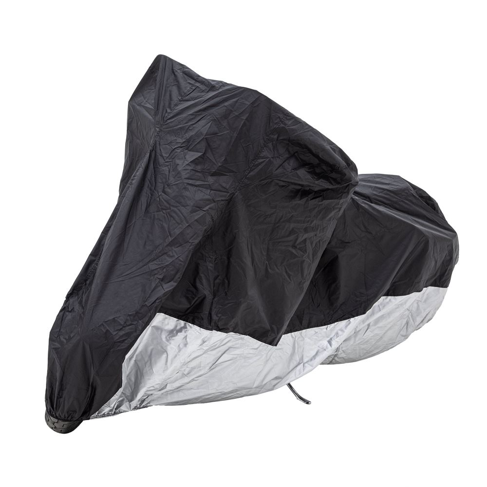 MC-XL-V2 Black Widow Extra-Large 104 L Water-Resistant Motorcycle Storage Cover