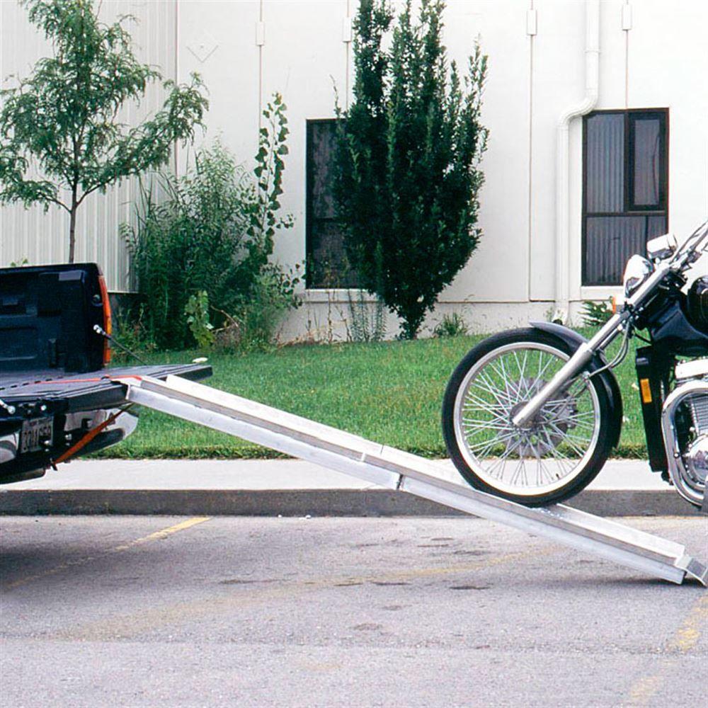 MC1296 PVI Aluminum Folding Straight Single Runner Motorcycle Ramp - 8 Long 4