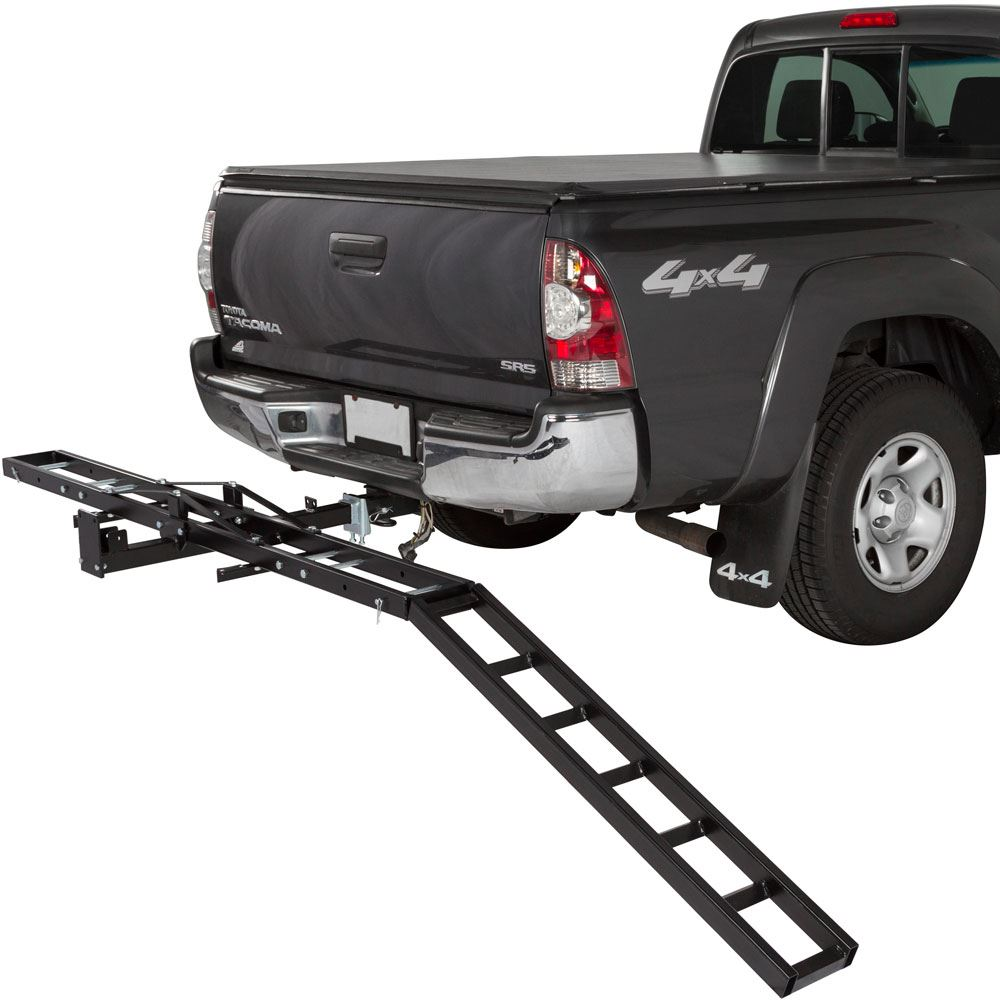 Trailer Hitch Motorcycle Carrier >> Black Widow Steel Motorcycle Carrier 500 Lb Capacity