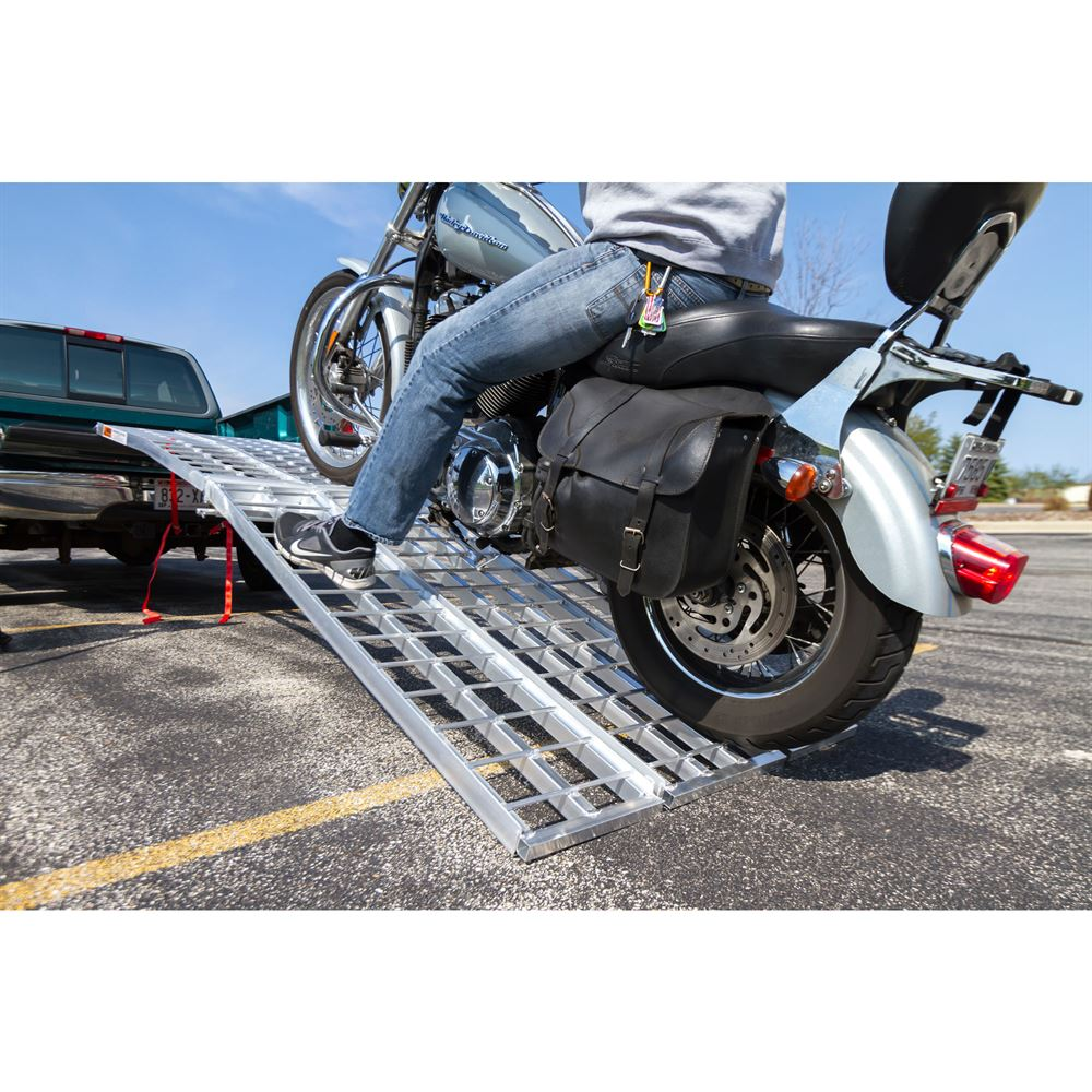 MF-12038 Black Widow Aluminum Heavy-Duty Folding Arched 3-Piece Motorcycle Ramp 4