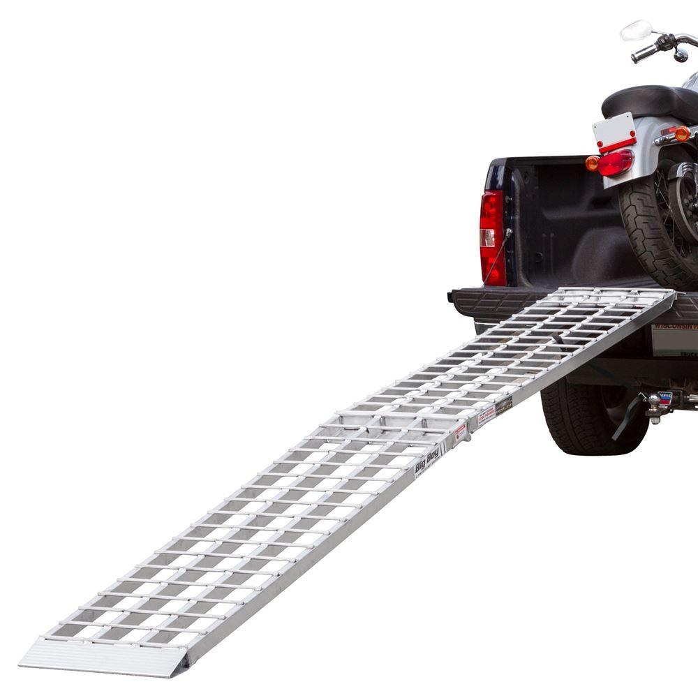 MF1-12019 10 Long Big Boy Aluminum Folding Single Runner Motorcycle Ramp