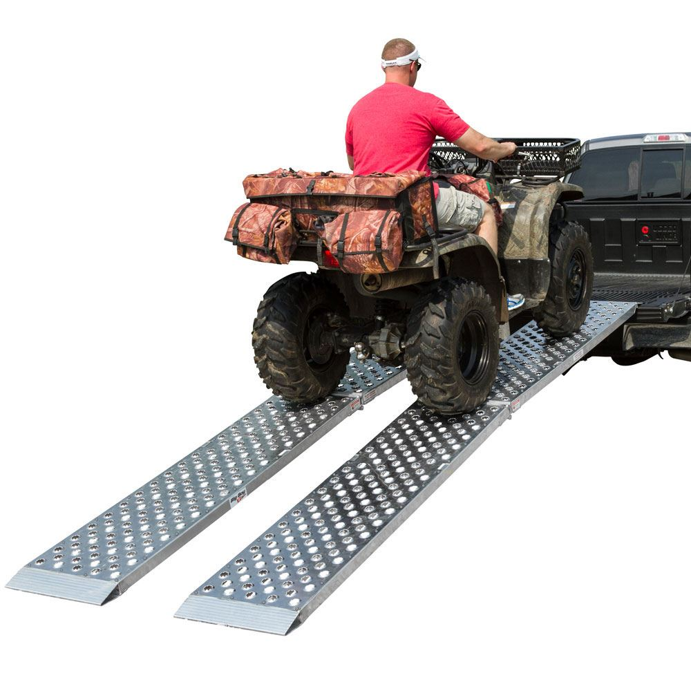 MF2-10819-EZ-ATV 9 L x 19 W Big Boy EZ Rizer Aluminum Extra-Wide Arched Dual Runner Folding ATV Ramps