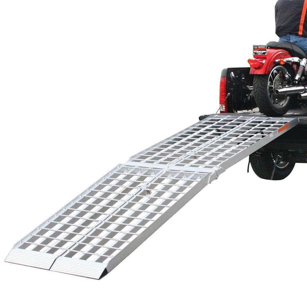 MF2-10838 9 L x 19 W Big Boy Aluminum 4-Beam Dual Runner Folding ATV Ramps