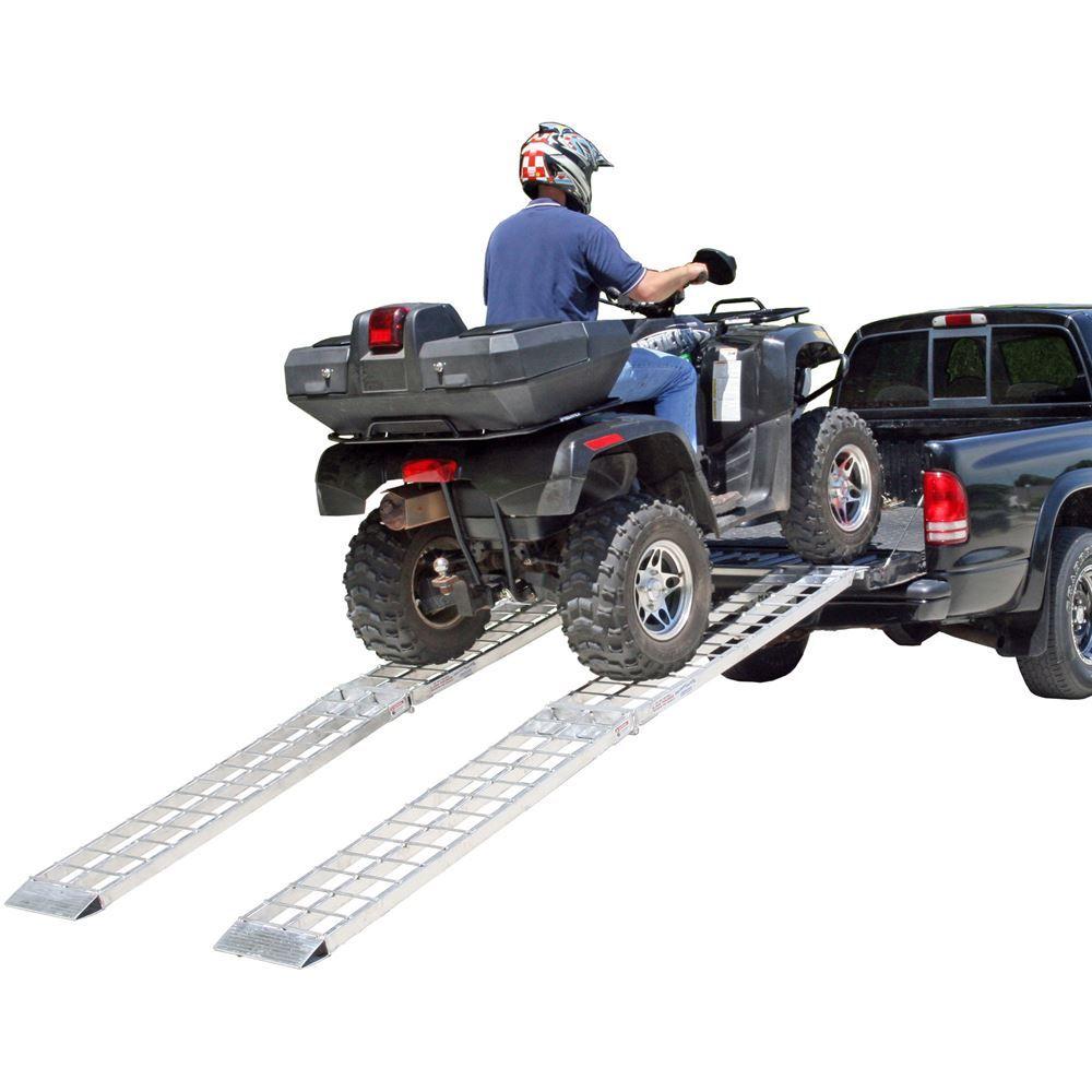 MF2-14414-2000-2 12 L x 14 W Big Boy Aluminum Arched Dual Runner Folding ATV Ramps