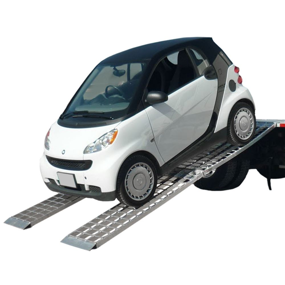 MF2-14438-SC Big Boy II Aluminum Hybrid End Folding Smart Car Trailer Ramps - 2000 lb Capacity