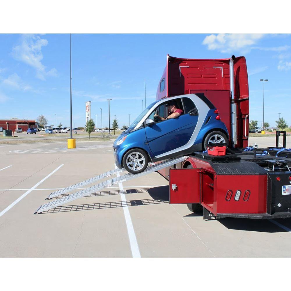 MF2-14438-SC Big Boy II Aluminum Hybrid End Folding Smart Car Trailer Ramps - 2000 lb Capacity 2