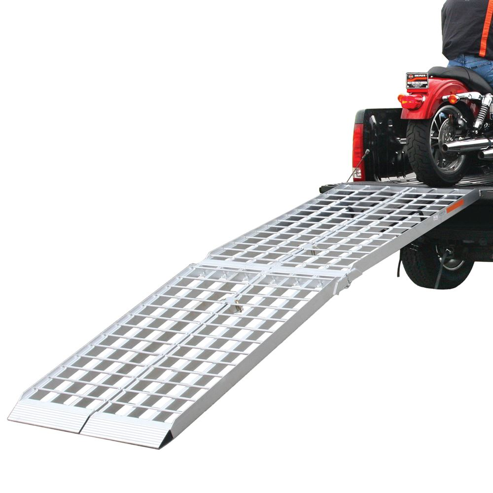 MF2-9638 8 L x 19 W Big Boy Aluminum 4-Beam Dual Runner Folding ATV Ramps