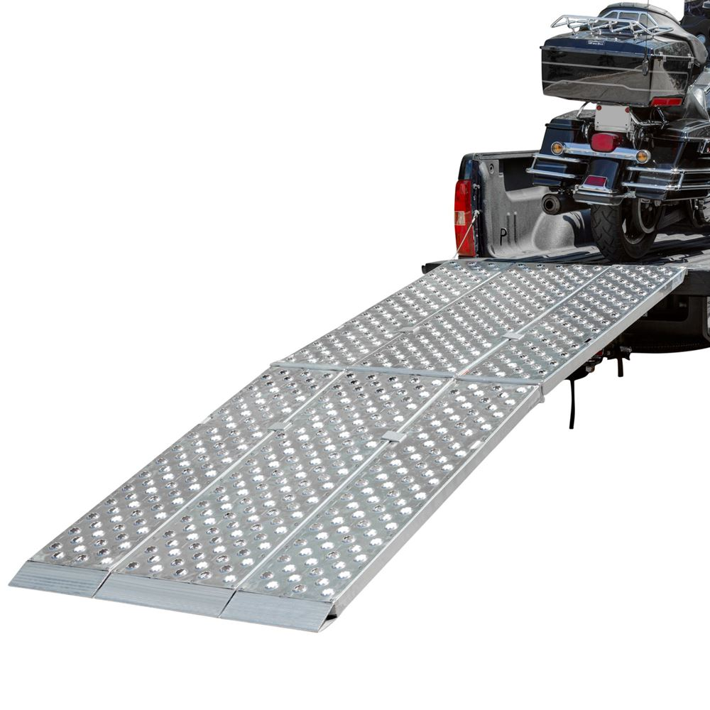 9' Aluminum Folding Motorcycle Ramp – 3 Piece – Big Boy EZ Rizer on front entry ramps, mad ramps, big ramps, electric car ramps, food ramps, shed ramps, growing ramps, animal ramps, forklift ramps, golf carts vehicle, automotive ramps, garage ramps, trench box ramps, industrial ramps, dozer ramps, quad ramps, car tow dolly ramps, trailer ramps, boat ramps, rv ramps,