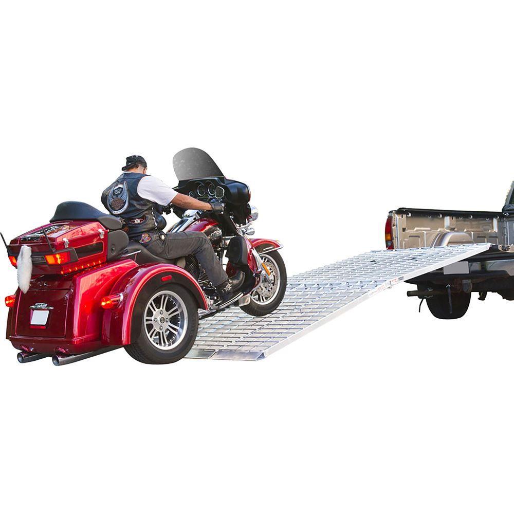 MF3-10857 9 Long Big Boy Aluminum Folding 3-Piece Trike and Motorcycle Ramp