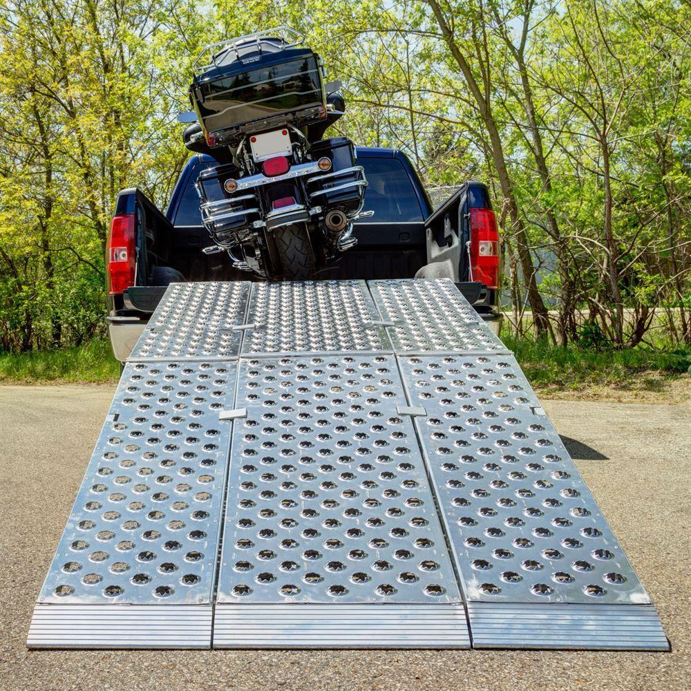 12' Aluminum Folding Motorcycle Ramp