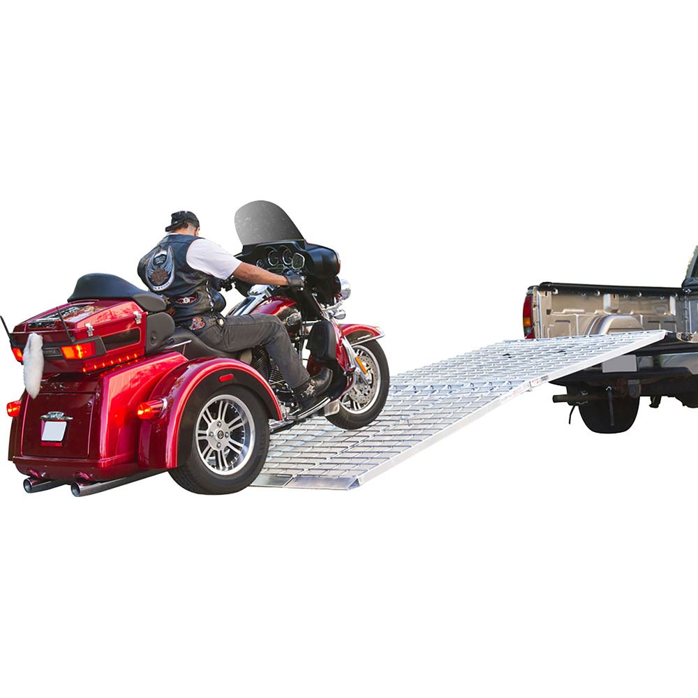 MF3-9657 8 Long Big Boy Aluminum Folding 3-Piece Trike and Motorcycle Ramp