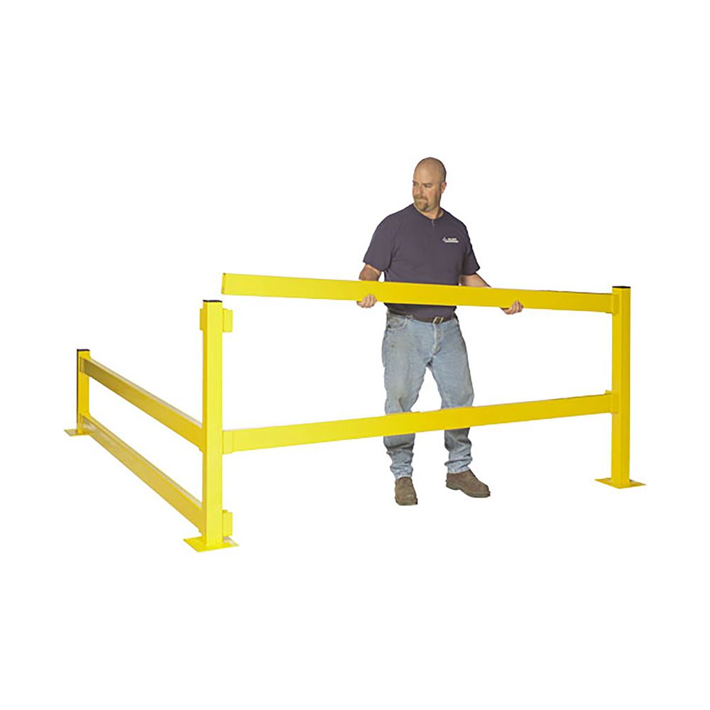MPBP42D Modular Protective Barrier 42 Double Rail In-Line Post