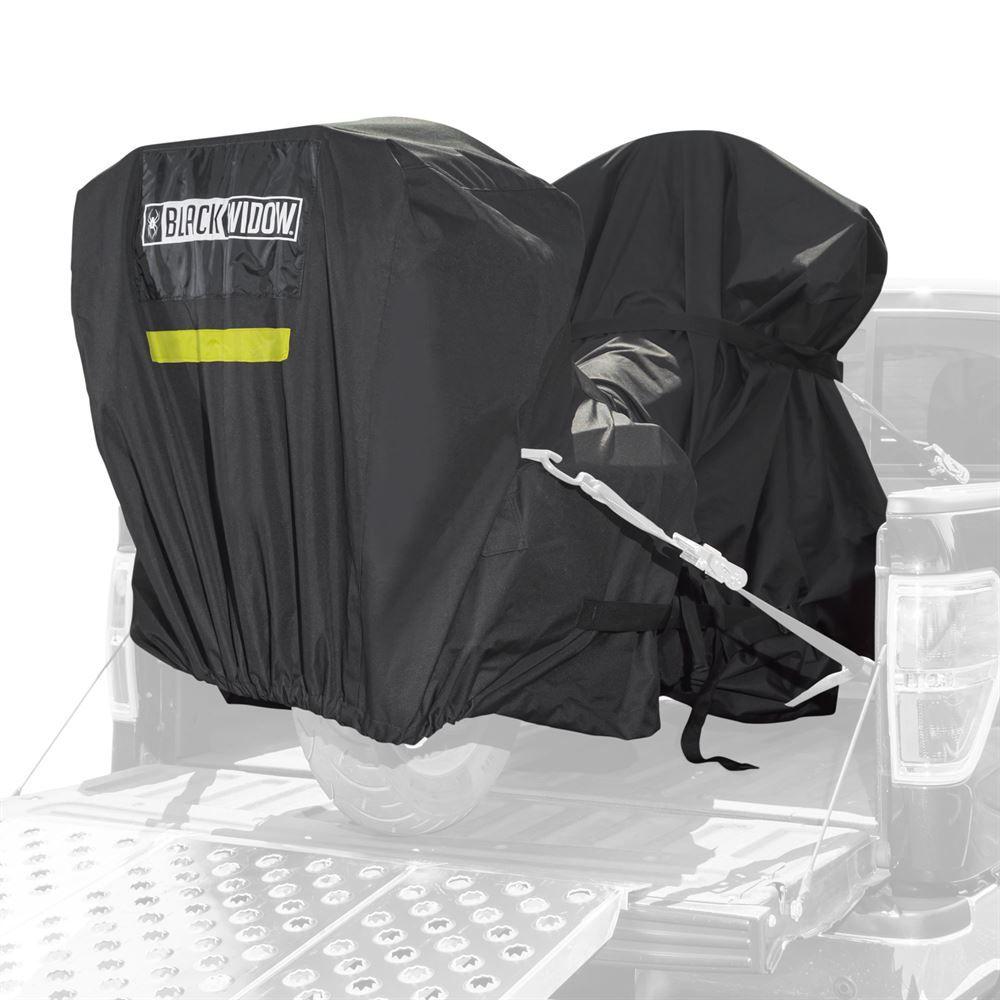 MTC-V2 Black Widow Trailerable Full Dresser Motorcycle Cover