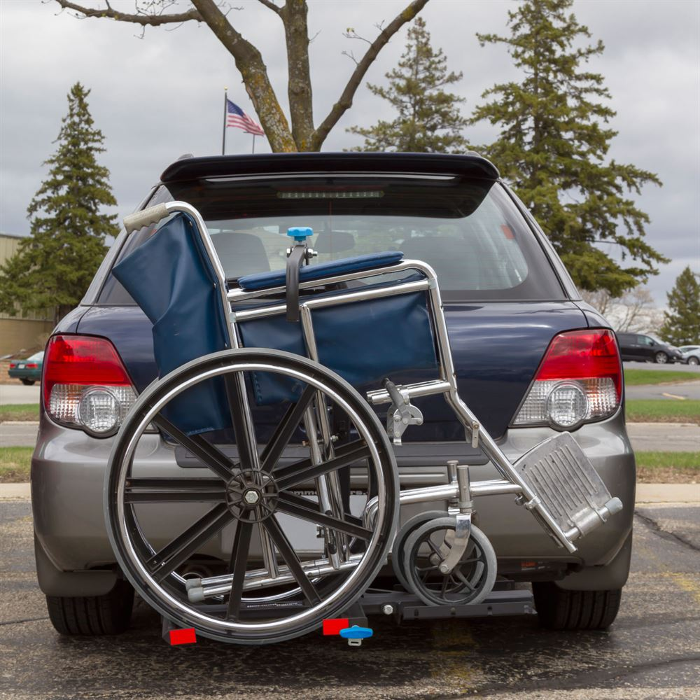 silver spring manual wheelchair carrier discount ramps rh discountramps com manual wheelchair carriers for vehicles silver spring manual wheelchair carrier with tilting platform