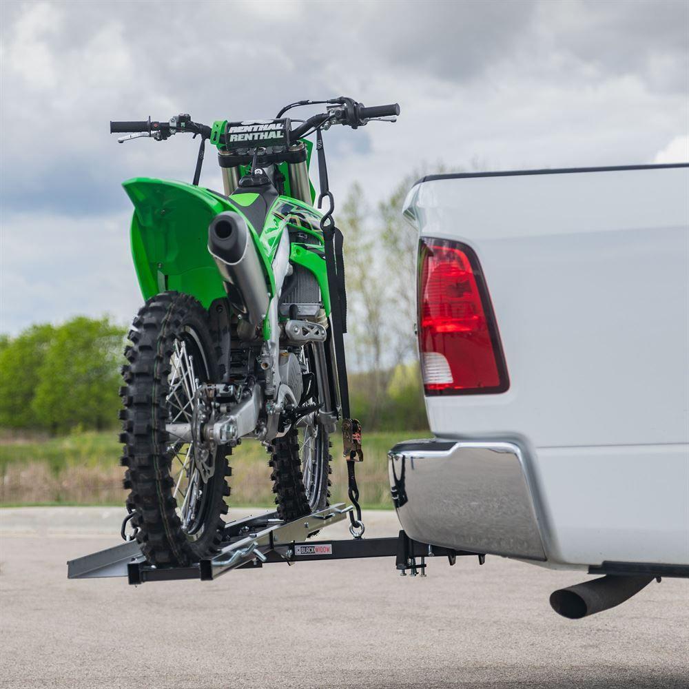 Black Widow Steel Motorcycle Carrier – 600 lb  Capacity