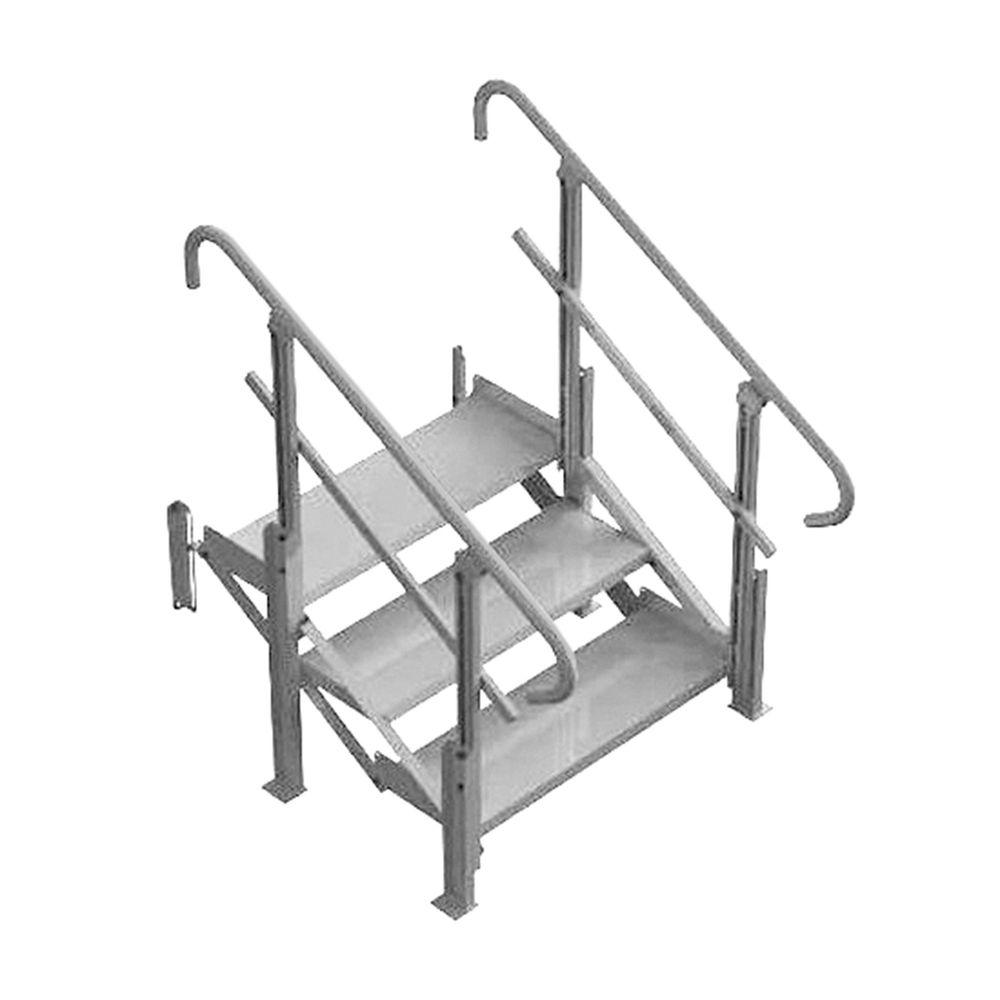 mod xp stair 3 step 3 step pvi modular xp aluminum stair - Aluminum Stairs