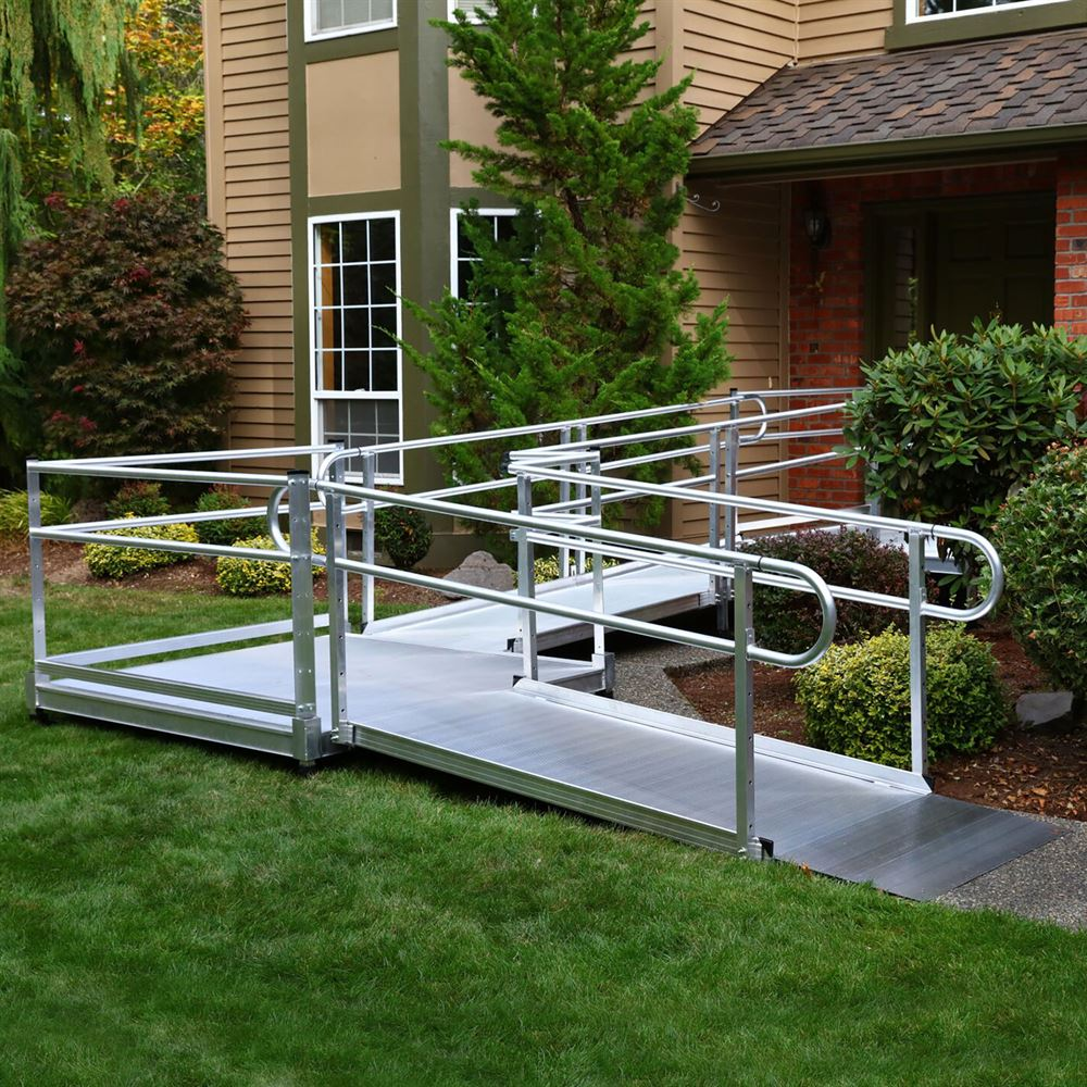 Ez access pathway modular ramp systems discount ramps for Prefab wheelchair ramp