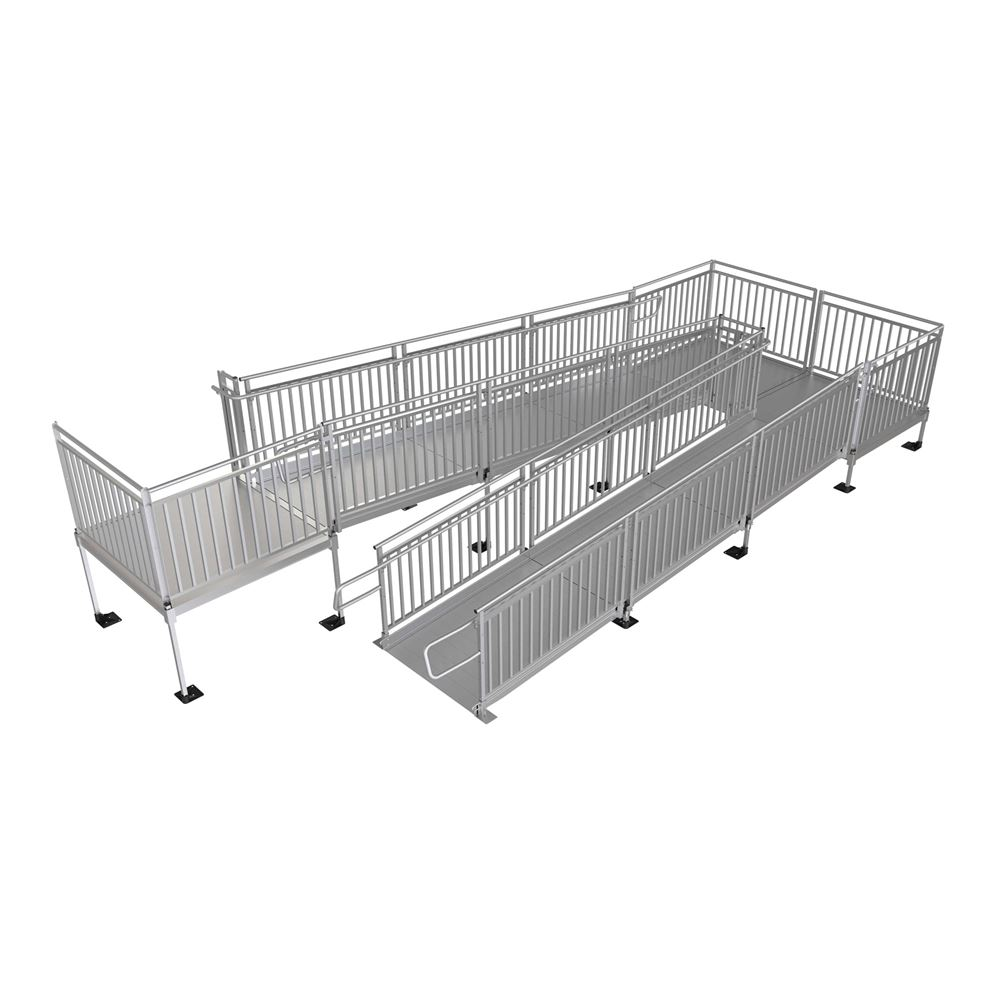 PATHWAYHD EZ-ACCESS ADA-Compliant Modular Ramps - Adjustable Height Access System