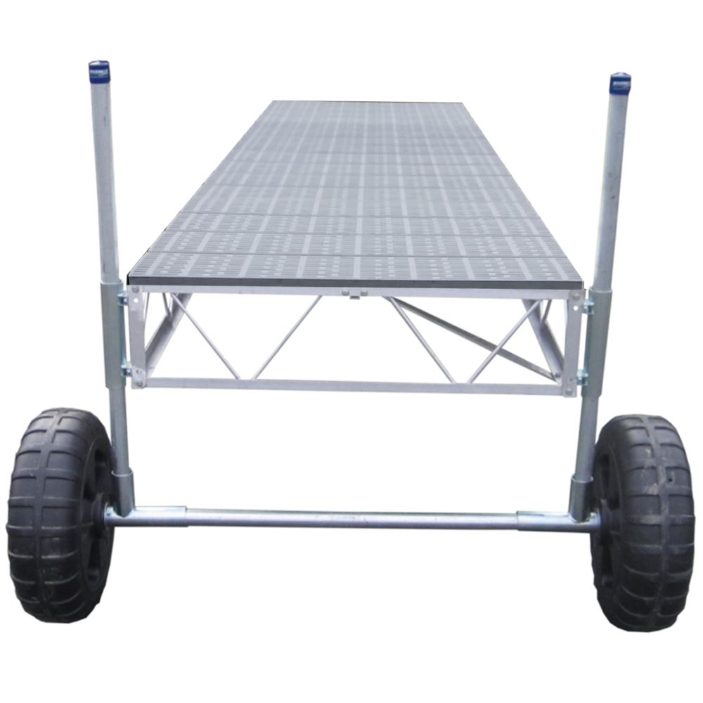 PD-10536 40 Straight Roll-in Dock with Poly Decking