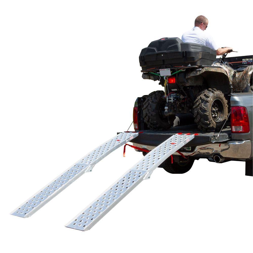 PPAF-9012-2 Black Widow Aluminum Punch Plate Dual Runner Folding ATV Ramps