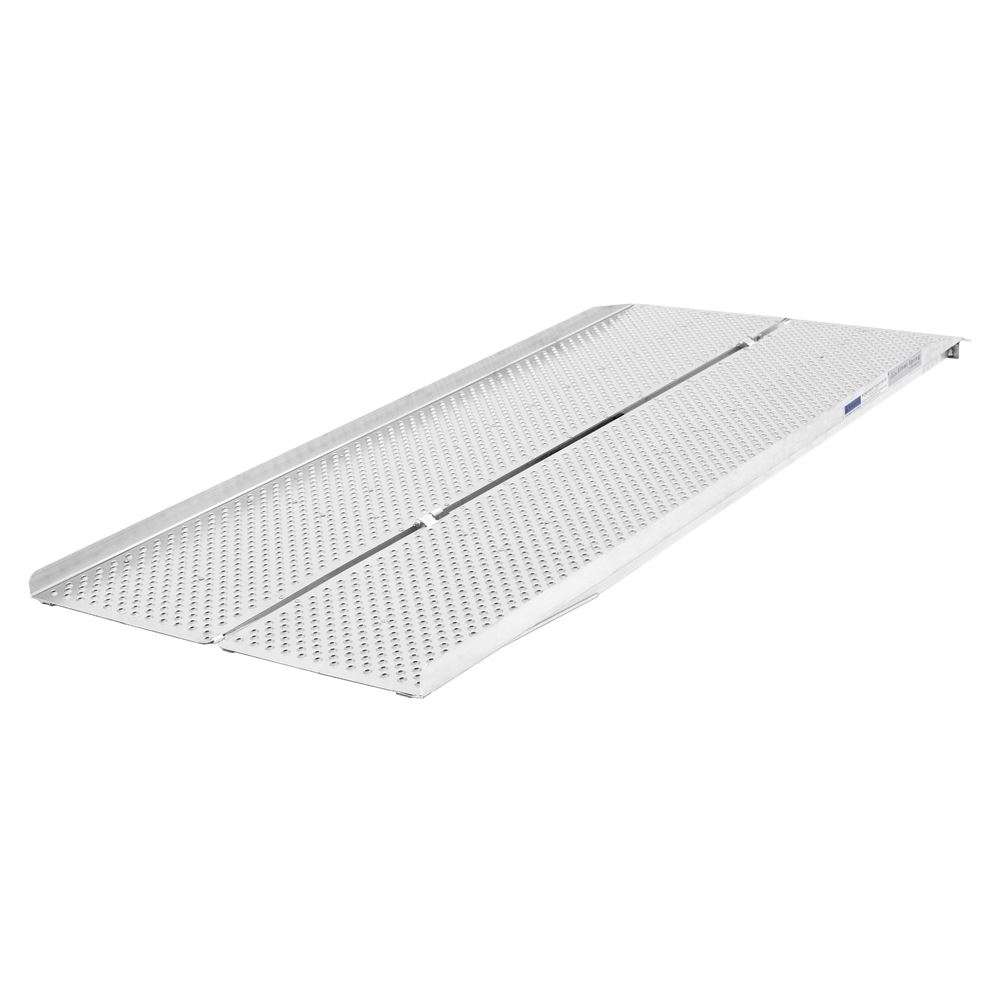 PPSF Silver Spring UltraLite Single-Fold Punch Plate Wheelchair Ramp - 800 lb Capacity