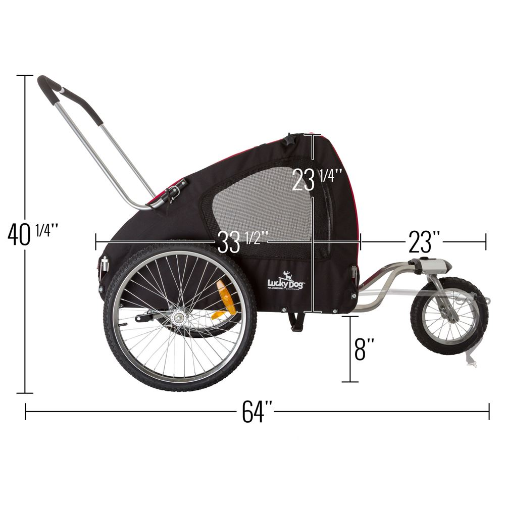 Lucky Dog Deluxe Pet Stroller/Bike Trailer Combo ...