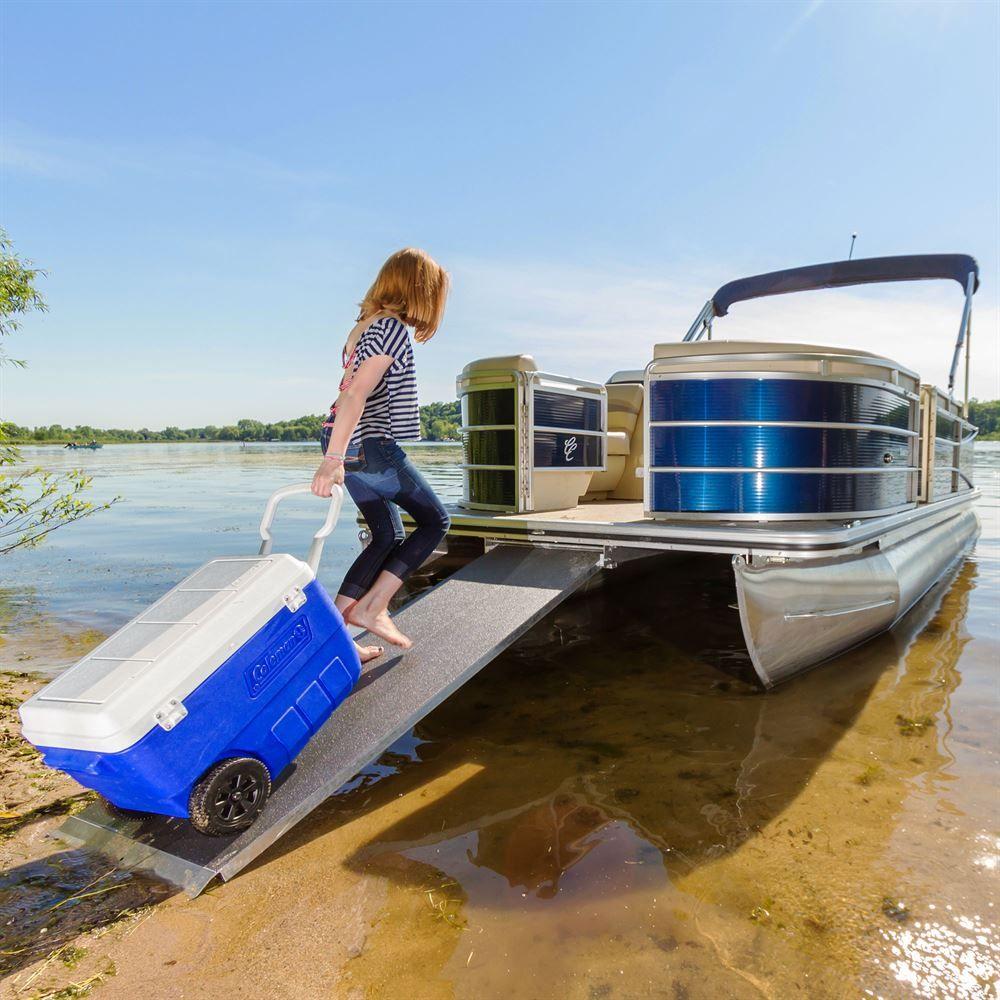 PontoonRamp Harbor Mate Aluminum Pontoon Boat Ramp 1