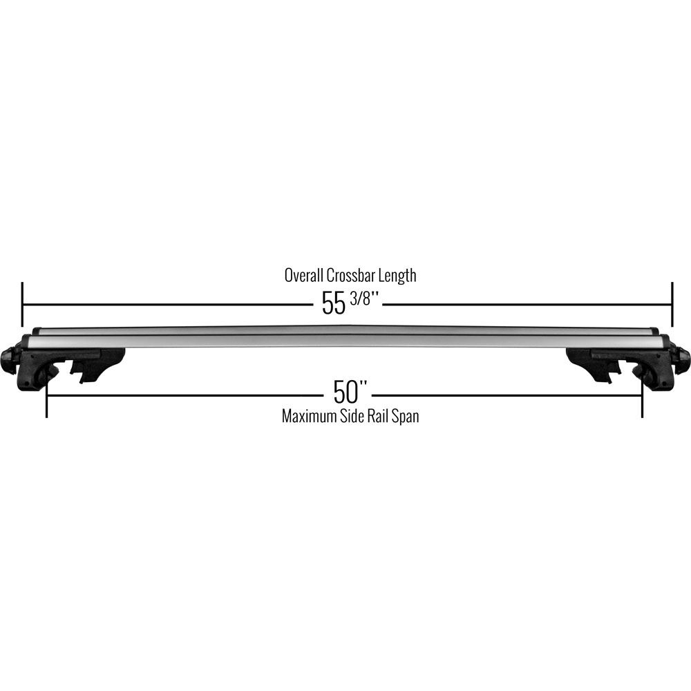 Apex Aluminum Universal Side Rail Mounted Roof Crossbars