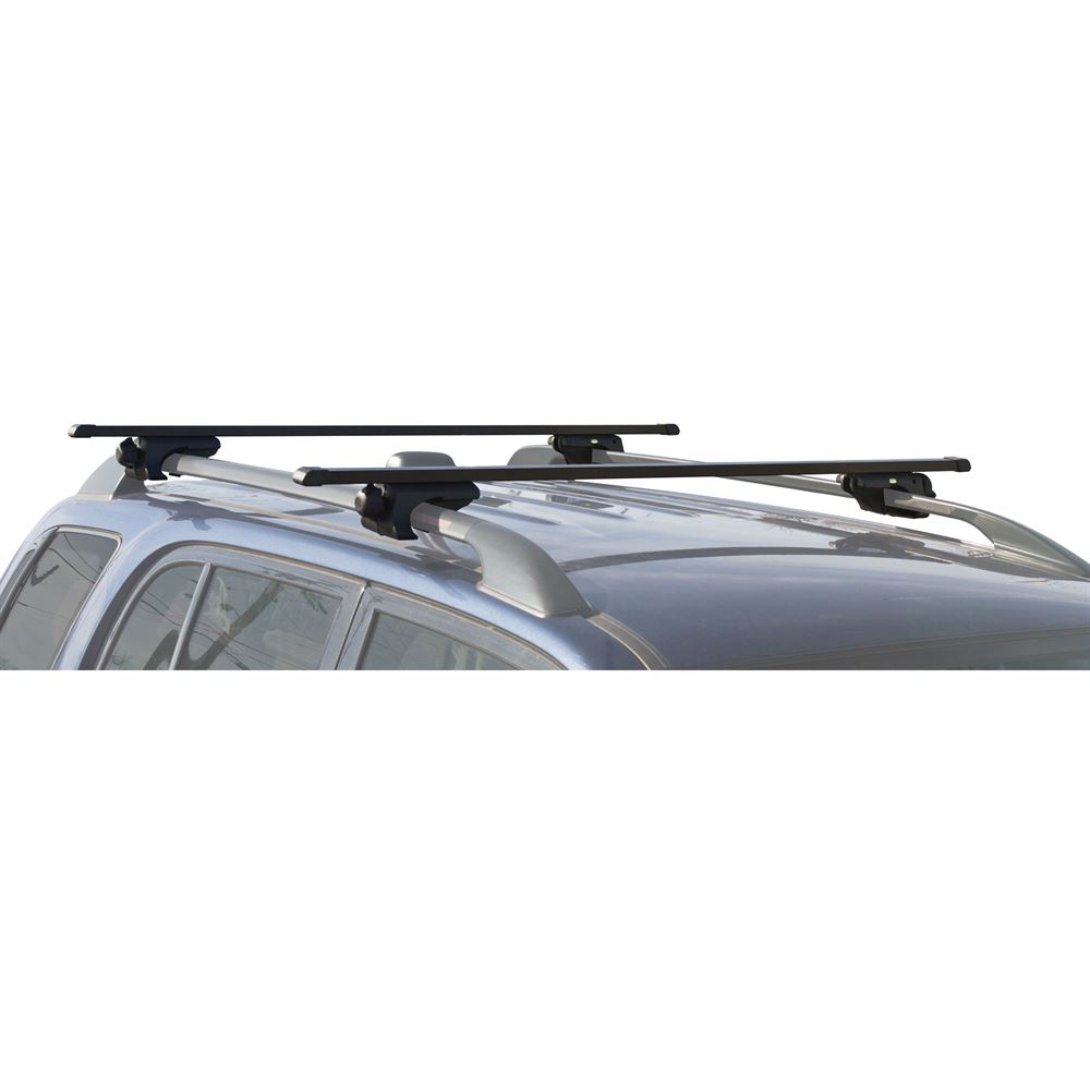 Apex Carbon Steel Deluxe Universal Side Rail Mounted Roof Crossbars 55 1 2 Lon Discount Ramps