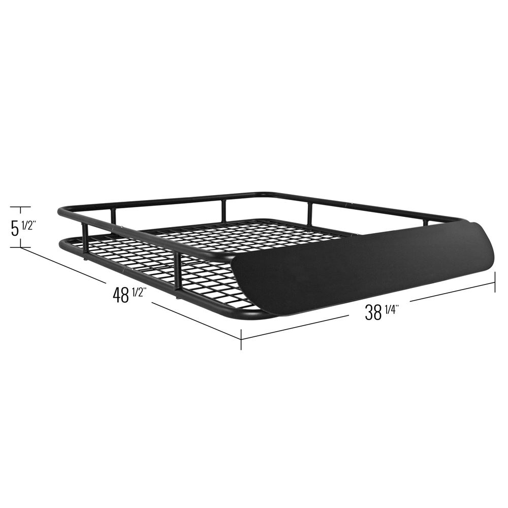 Apex Steel Roof Cargo Basket with Wind Fairing
