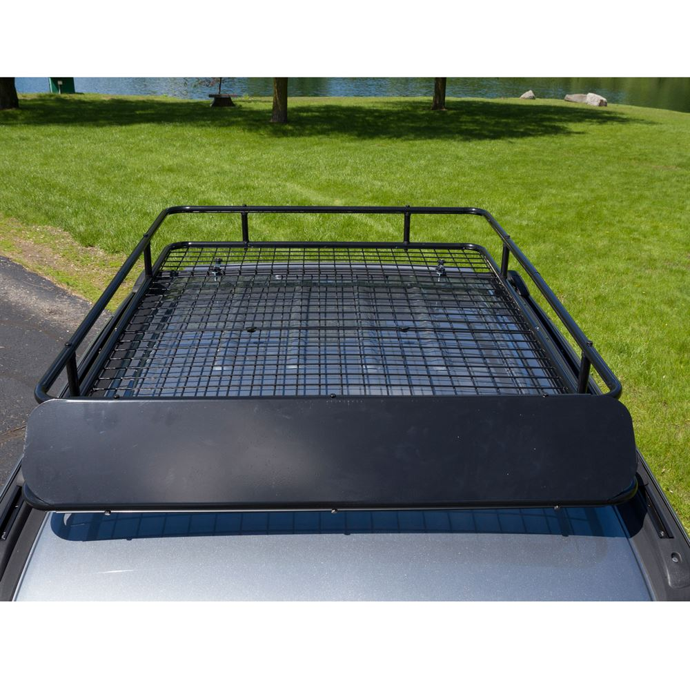 Apex Extra Large Steel Roof Cargo Basket With Wind Fairing