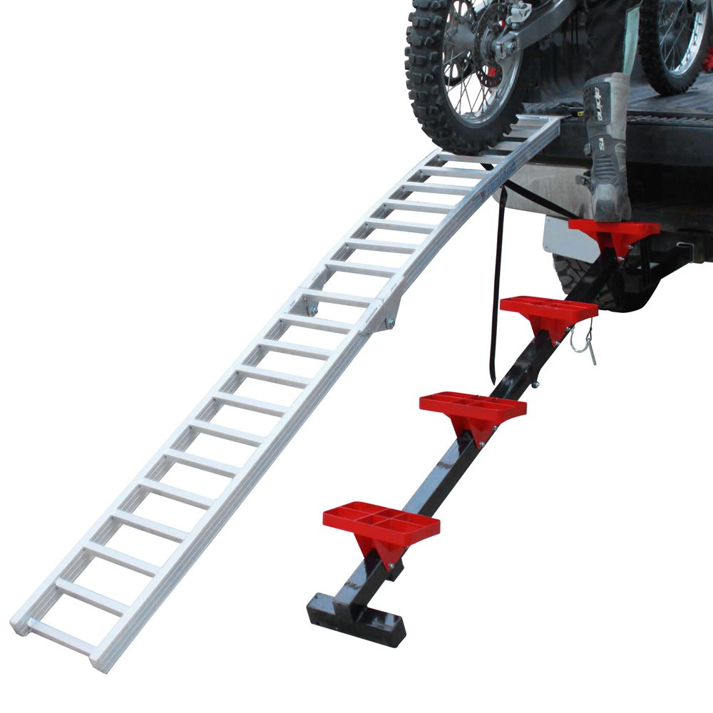 Dirt Bike Ramp >> Bosski Revarc Aluminum 2 Piece Motorcycle Loading System 8 Long