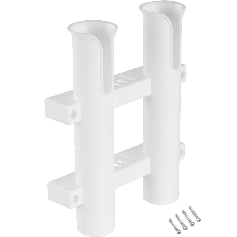 RH-PT-DBL 2-Pole Harbor Mate Wall Mounted Fishing Rod Holder