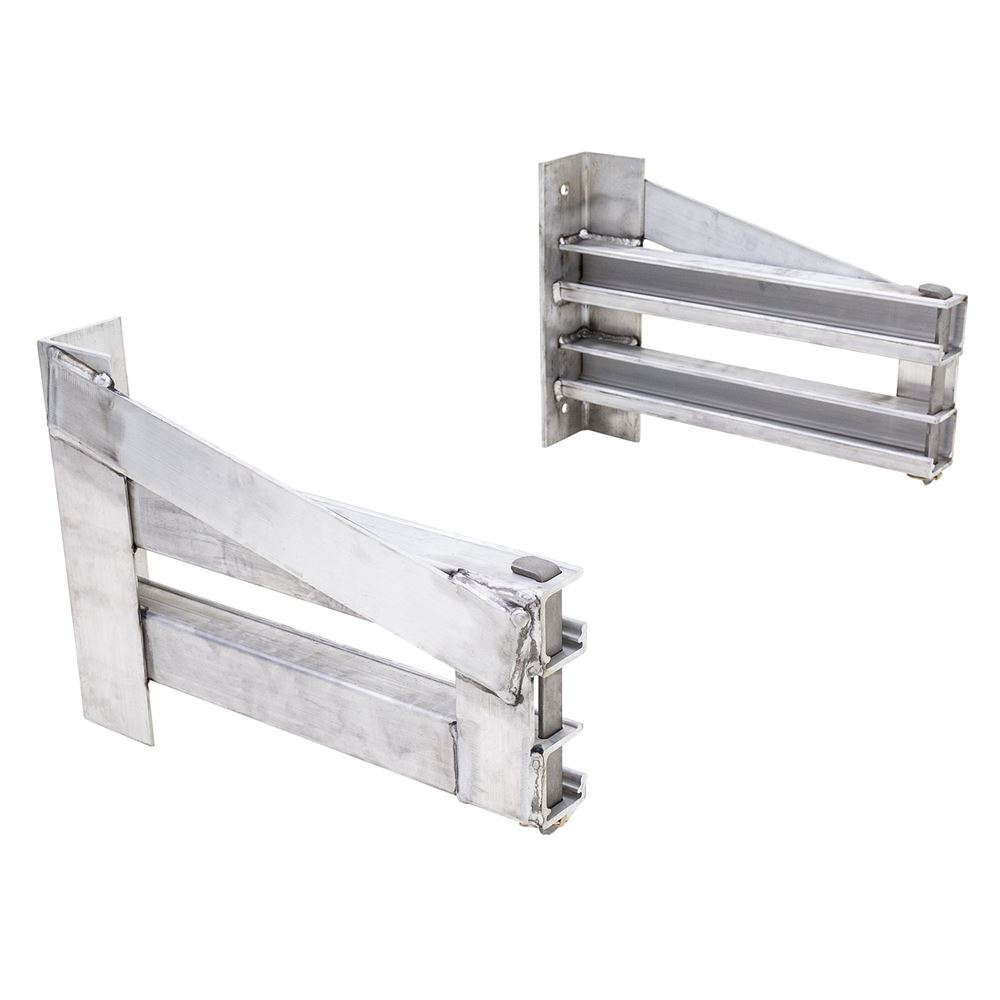 RHD-5-22 Loading Ramp Storage Brackets for Step Deck Trailers without Knee Braces