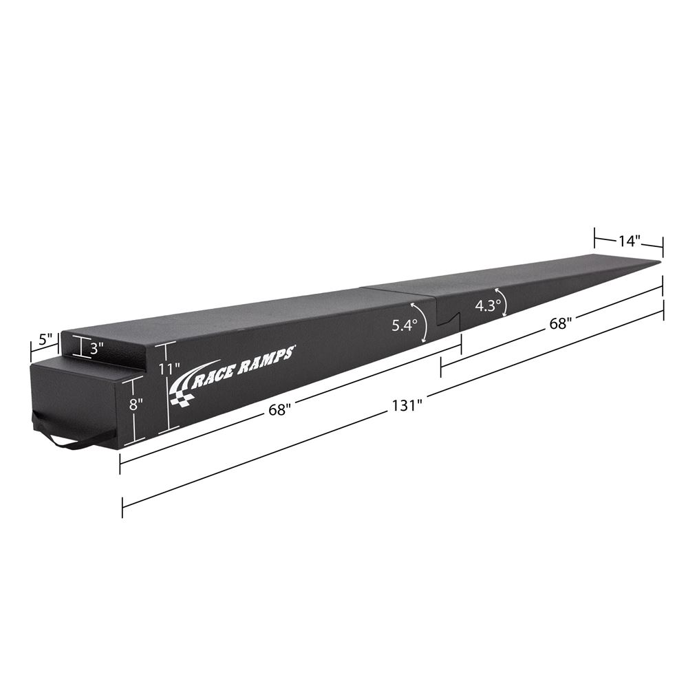 RR-TR-11-2 Race Ramps Solid 2-Piece GT Car Trailer Ramps - 6000 lbs Capacity