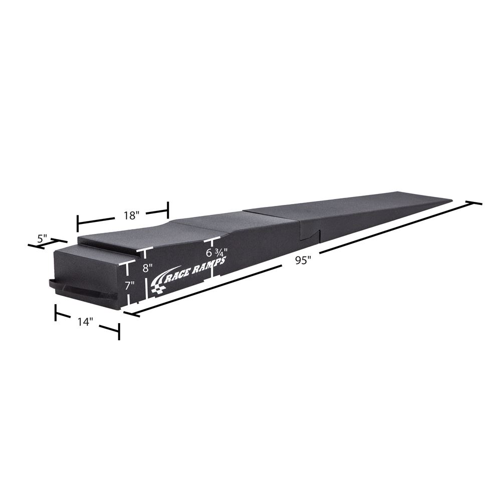 RR-TR-9-FLP Race Ramps Trailer Ramp with Flap Cutout - 1500 lb per tire Capacity