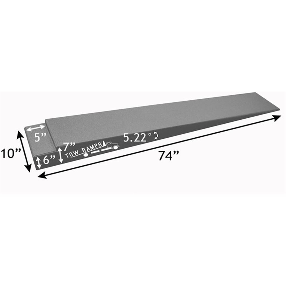 RR-TT-7-10 Race Ramps Solid Car Tow Ramps for Flatbed Tow Truck - 5000 lb Per Axle Capacity 3