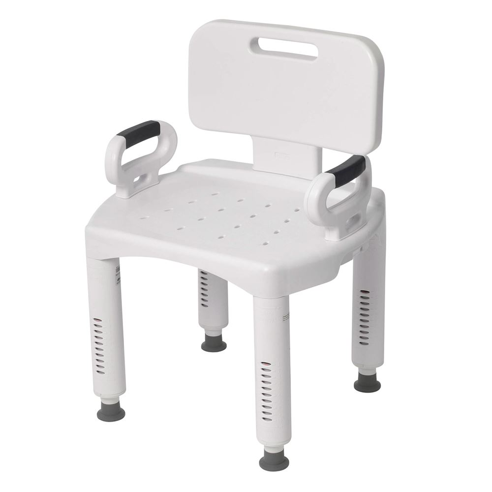 RTL12505 Drive Medical Premium Series Shower Chair with Back and Arms