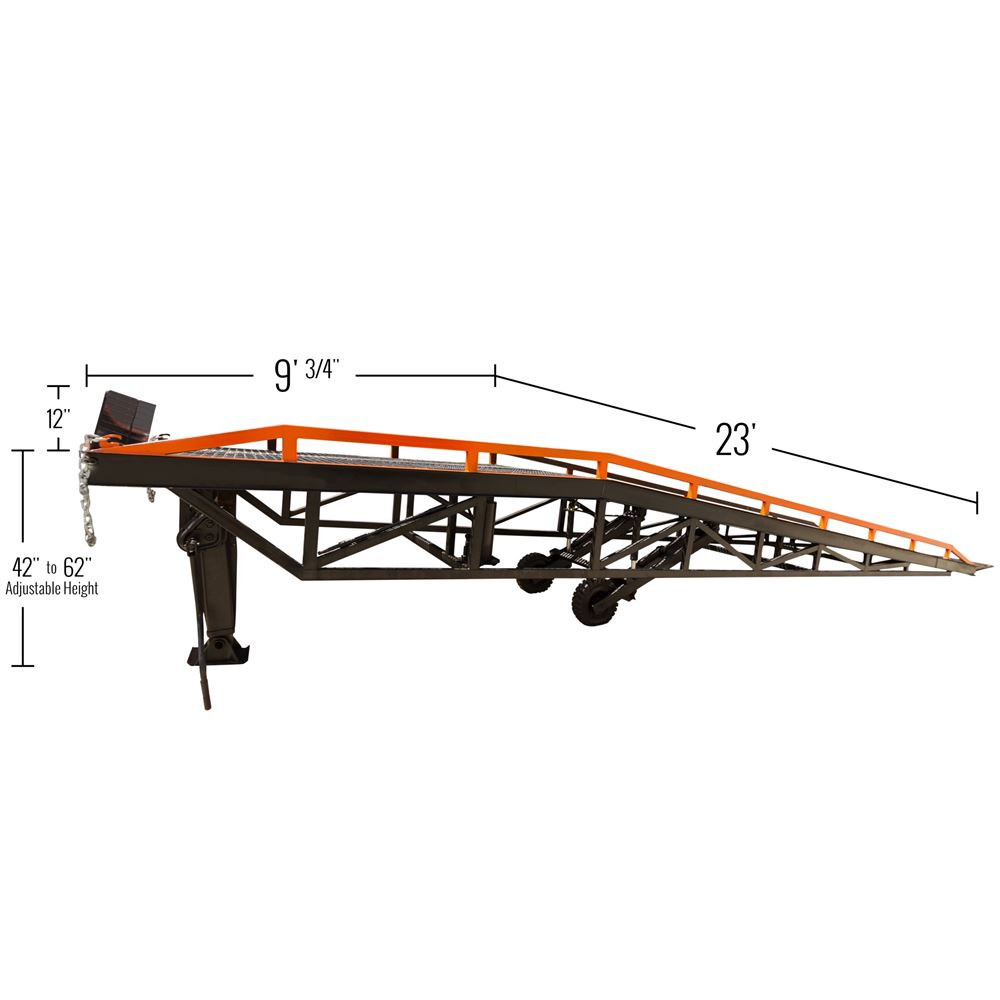 RYR-37-22 Steel Portable Yard Ramp - 22000 lb Capacity 6