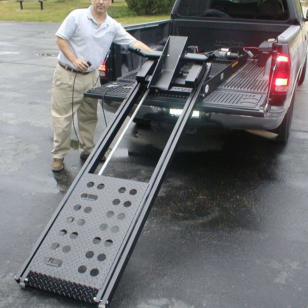 Rampage Power Lift Powered Motorcycle Ramp 8 Long Discount Ramps