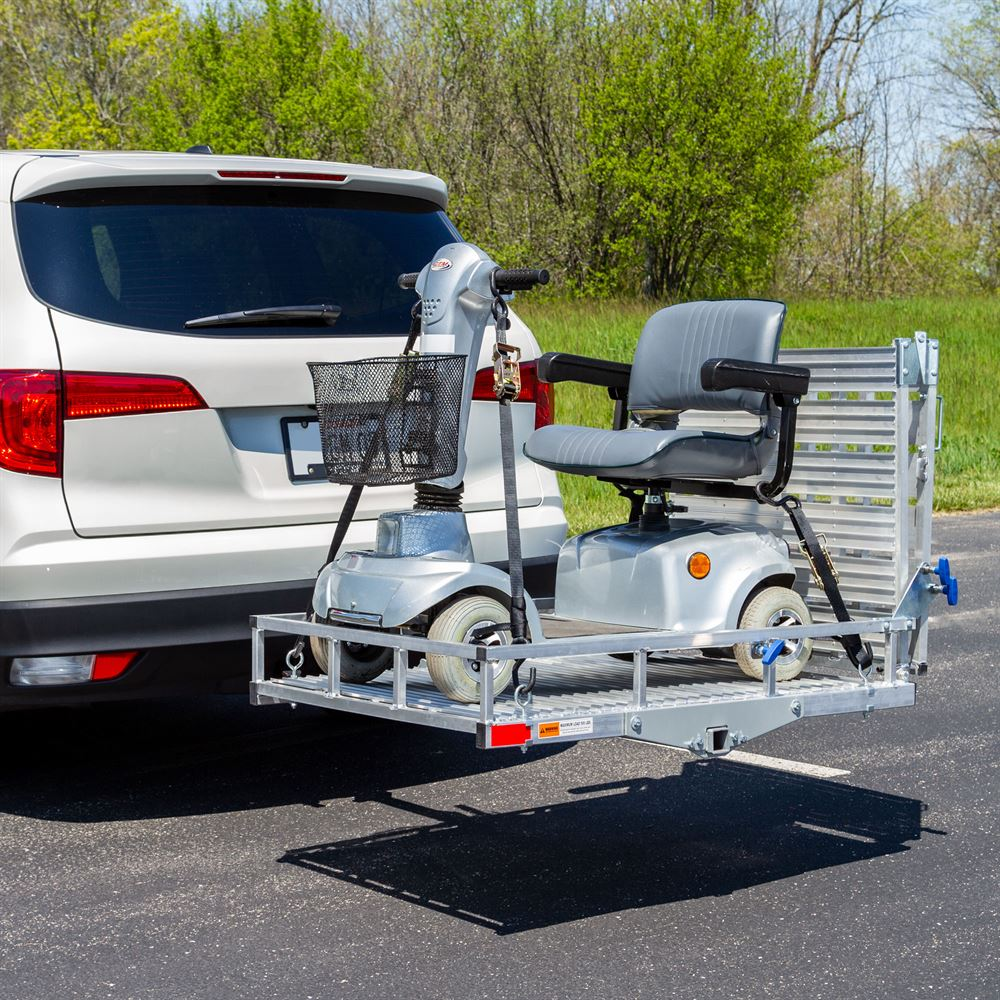 SC500-AF Silver Spring Deluxe Aluminum Folding Scooter and Wheelchair Carrier 1