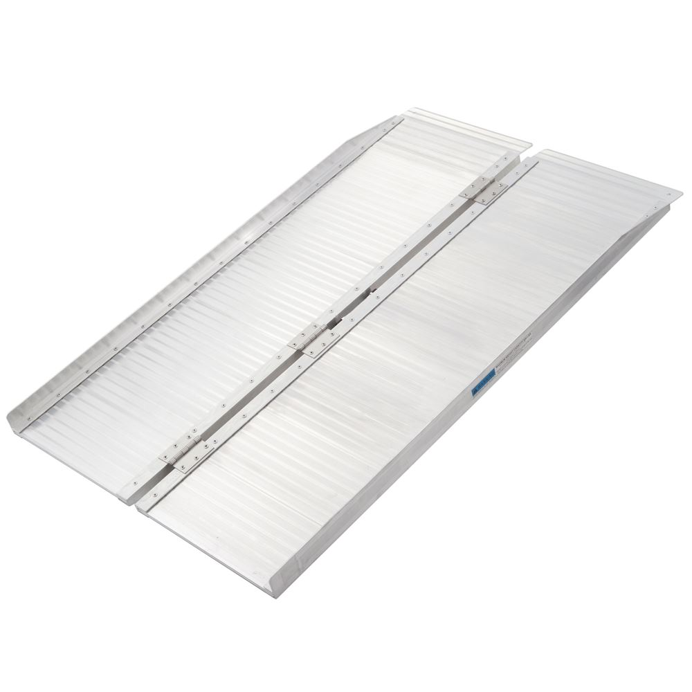 SCG-4 4 L Silver Spring Aluminum Single-Fold Wheelchair Ramp - 600 lb Capacity
