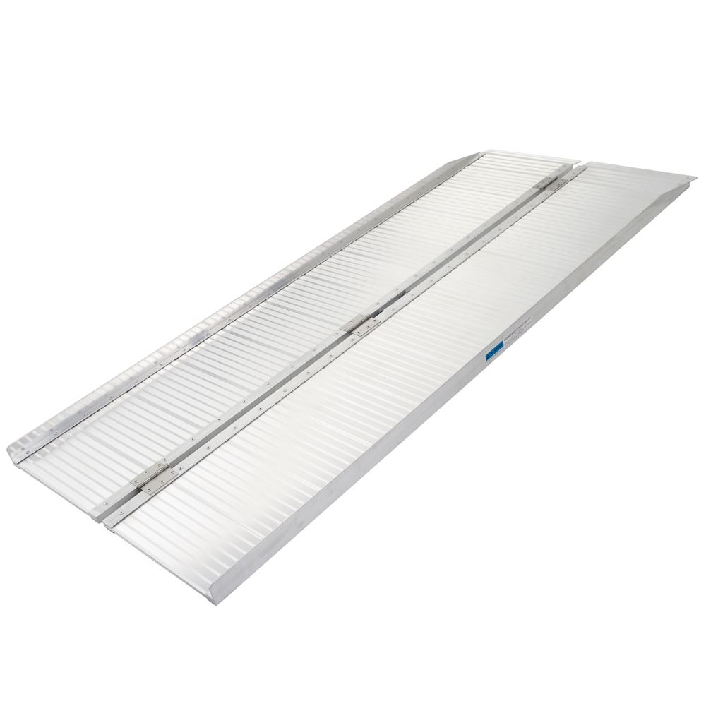 SCG-6 6 L Silver Spring Aluminum Single-Fold Wheelchair Ramp - 600 lb Capacity