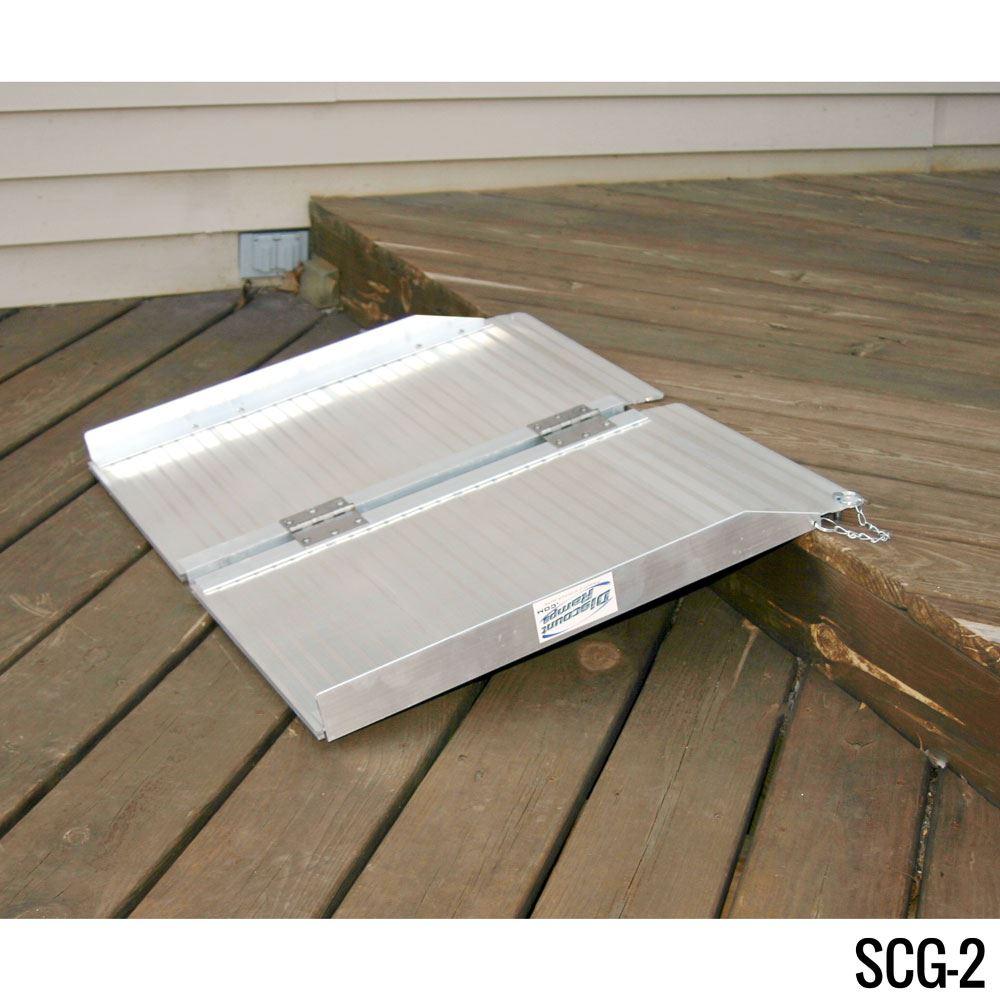 SCG-X Silver Spring Single-Fold Wheelchair Ramp - 600 lb Capacity 1