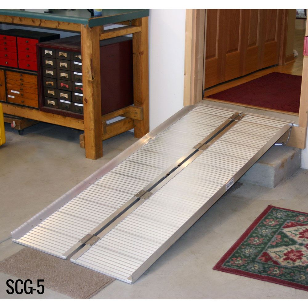 SCG-X Silver Spring Single-Fold Wheelchair Ramp - 600 lb Capacity 2