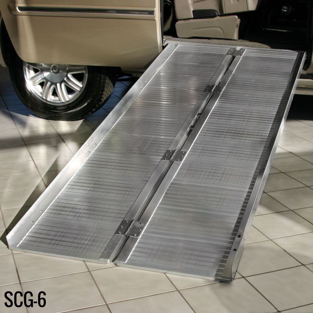 SCG-X Silver Spring Single-Fold Wheelchair Ramp - 600 lb Capacity 3