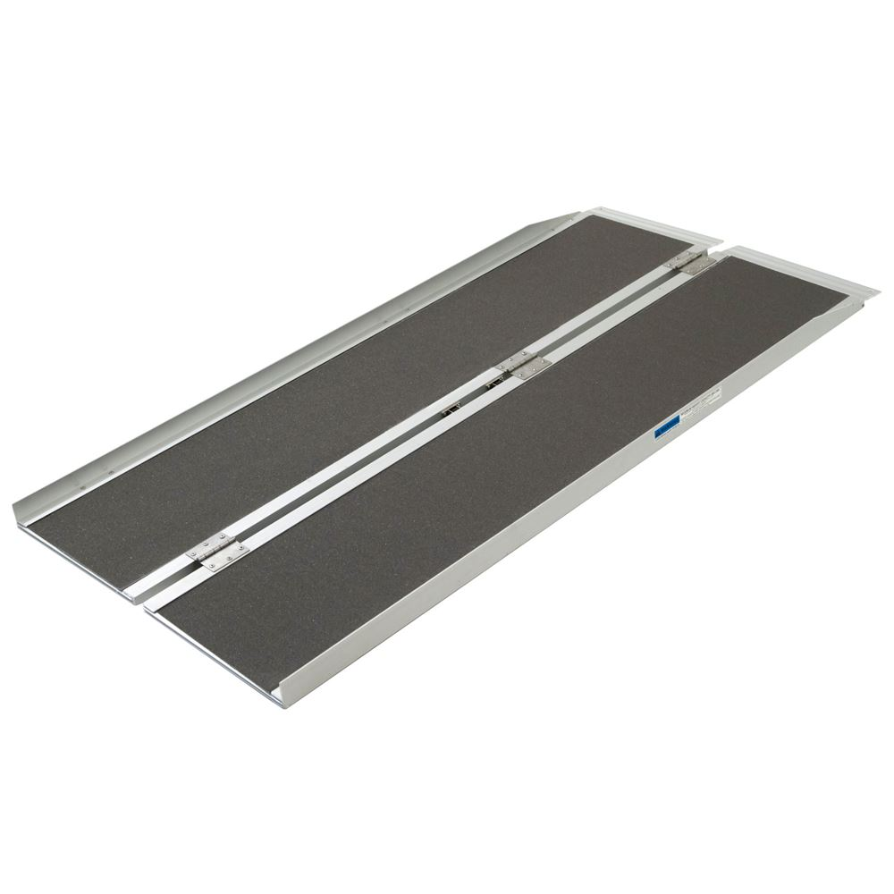 SCGPLUS-5 5 L Silver Spring Aluminum Single-Fold Wheelchair Ramp - 600 lb Capacity