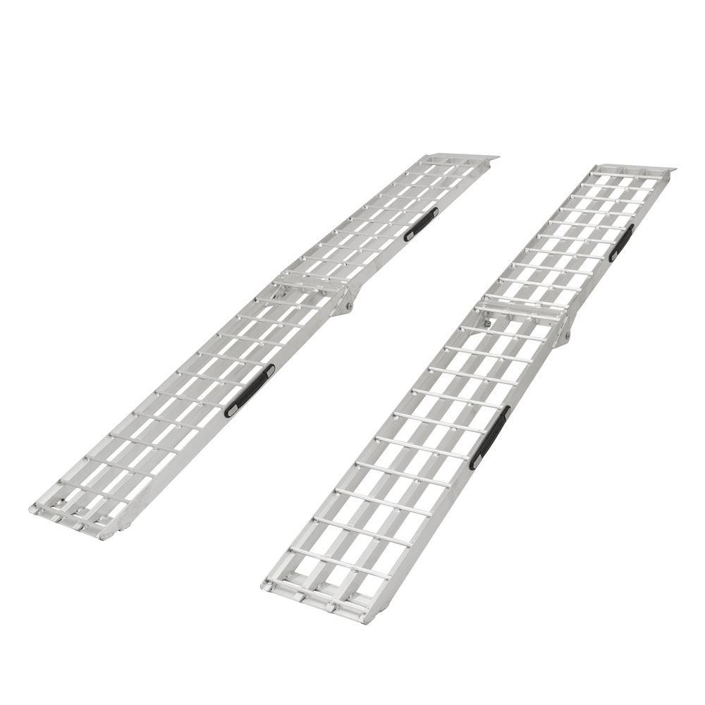 Aluminum Atv Ramps >> 4 Beam Aluminum Folding Dual Runner Atv Ramps 7 6 Long Discount